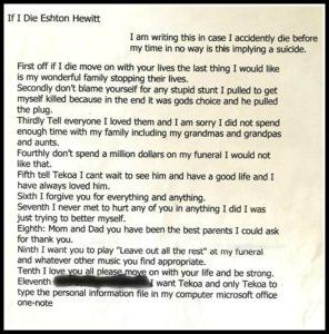 Easton's letter